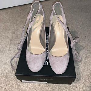 Bcbg porcini heels size 8.5  leather